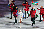 Olympic team of Azerbaijan during the parade of nations at the Opening ceremony of the 2014 Sochi Olympic Winter Games at Fisht Olympic Stadium on February 7, 2014 in Sochi, Russia. Photo by Victor Fraile / Power Sport Images