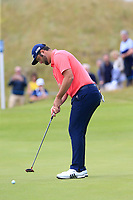 Jon Rahm (ESP) putts on the 16th green during Sunday's Final Round of the Dubai Duty Free Irish Open 2019, held at Lahinch Golf Club, Lahinch, Ireland. 7th July 2019.<br /> Picture: Eoin Clarke | Golffile<br /> <br /> <br /> All photos usage must carry mandatory copyright credit (© Golffile | Eoin Clarke)