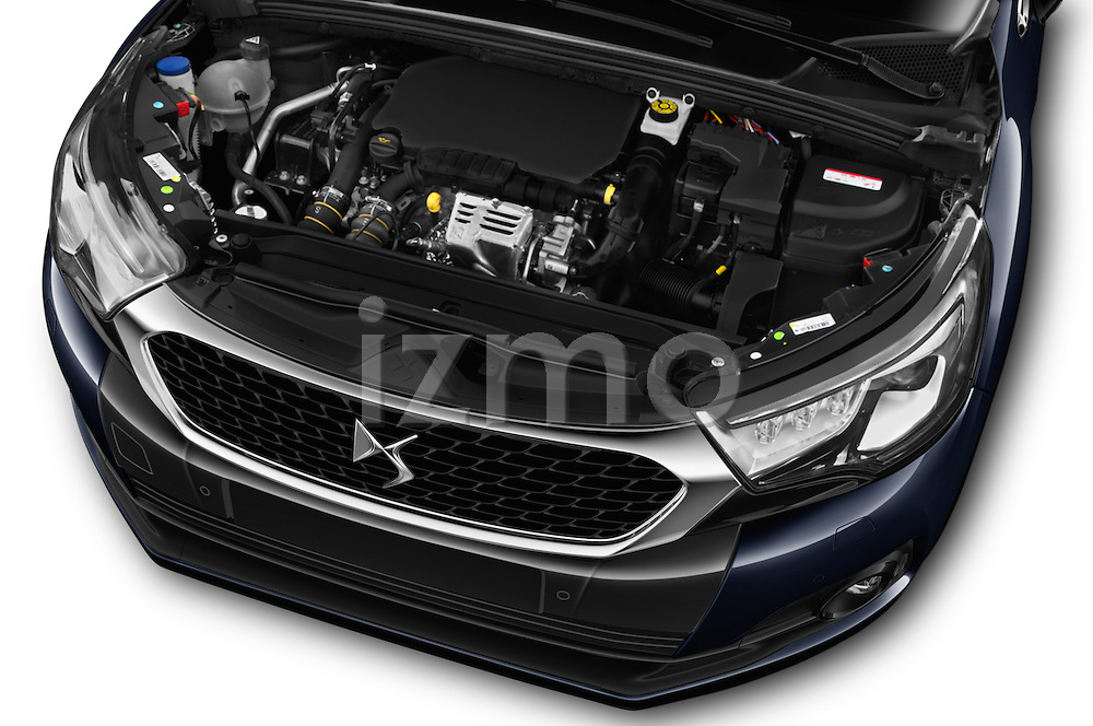 Car Stock 2016 Ds DS-4-Crossback Sport-Chic 5 Door Hatchback Engine  high angle detail view