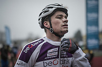 David van der Poel  (NED/Beobank-Corendon) post-race<br /> <br /> 2016 CX UCI World Cup Zeven (DEU)