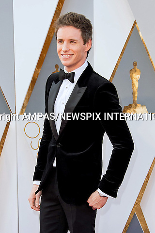 28.02.2016; Hollywood, California: 88th OSCARS - EDDIE REDMAYNE<br /> attend the 88th Annual Academy Awards at the Dolby Theatre&reg; at Hollywood &amp; Highland Center&reg;, Los Angeles.<br /> Mandatory Photo Credit: &copy;Ampas/Newspix International<br /> <br /> PHOTO CREDIT MANDATORY!!: NEWSPIX INTERNATIONAL(Failure to credit will incur a surcharge of 100% of reproduction fees)<br /> <br /> IMMEDIATE CONFIRMATION OF USAGE REQUIRED:<br /> Newspix International, 31 Chinnery Hill, Bishop's Stortford, ENGLAND CM23 3PS<br /> Tel:+441279 324672  ; Fax: +441279656877<br /> Mobile:  0777568 1153<br /> e-mail: info@newspixinternational.co.uk<br /> All Fees To: Newspix International