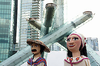 Giant Mexican puppets or mojigangas at the Mexico Fest 2012 celebrations on Sept. 8, 2012 in Vancouver, British Columbia, Canada. These celebrations commemorated 202 years of Mexican Independence.
