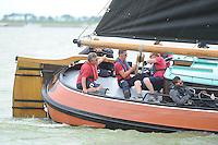 SKUTSJESILEN: SKS2013: SKS kampioenschap 2013, schipper Drachten, Albert Visser, ©foto Martin de Jong