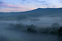 24/08/16<br /> <br /> A misty dawn breaks over Grindleford in the Derbyshire Peak District ahead of the hottest day of the year.<br /> <br /> <br /> All Rights Reserved, F Stop Press Ltd. +44 (0)1773 550665