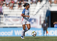 Bradenton, FL - Sunday, June 10, 2018: Kennedy Wesley during a U-17 Women's Championship match between the United States and Haiti at IMG Academy.  USA defeated Haiti 3-2 to advance to the finals.