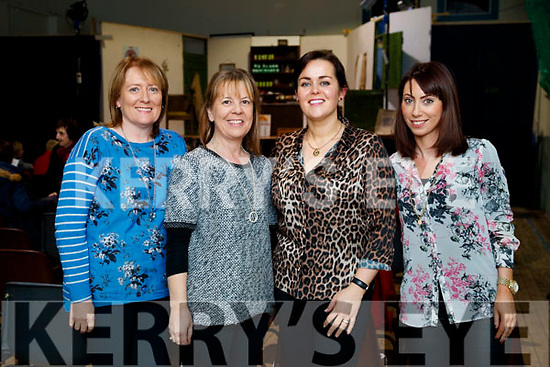 Aileen Hill, Marie Hill, Carol Anne O'Donoghue and Deirdre Lyons, Tralee, pictured at 'The Cripple of Inishmaan' at Ardfert Community Centre on Friday night last.