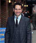 NEW YORK, NY - FEBRUARY 22: Actor Paul Rudd visits 'Late Show with David Letterman' at Ed Sullivan Theater on February 22, 2012 in New York City.