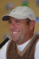 19th September, 2006. Dublin Ireland. Ryder Cup press Conference at the K club..American Ryder Cup team player Stewart Cink gives a press conference at the above..Photo: Barry Cronin/ Newsfile.