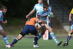 27 September 2014: North Carolina's Levi Rolles (7). The University of North Carolina Tar Heels hosted the University of Virginia Cavaliers at Hooker Field in Chapel Hill, NC in a 2014-15 USA College Rugby match. North Carolina won the game 27-12.
