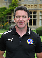 First team coach Mike Ford poses for a portrait at the squad Photocall. Bath Rugby Media Day on August 21, 2012 at Farleigh House in Bath, England. Photo by: Patrick Khachfe/Onside Images