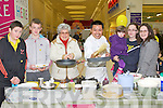 PANCAKES: Watching the Manor West Hotel, Chef flip the pancakes to raise funds for the Flip @4 Charity, in The Manor West Shopping Centre, on Saturday, l-r: Jason Crean, Aaron Roche, Francessa matassa (Brosna), Velzen Nasipl, Filoberta Matassa (Brosna), Lucy O'Mahony -Matassa (Tralee) and Josie matassa (Brosna).