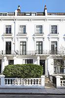 The facade of a London town house