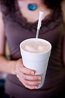 Straberry shake at Sutton's Drugstore.