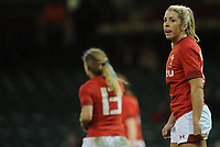 Wales Alecs Donovan in action during todays match<br /> <br /> Photographer Ian Cook/CameraSport<br /> <br /> 2018 Women's Six Nations Championships Round 4 - Wales Women v Italy Women - Sunday 11th March 2018 - Principality Stadium - Cardiff<br /> <br /> World Copyright &copy; 2018 CameraSport. All rights reserved. 43 Linden Ave. Countesthorpe. Leicester. England. LE8 5PG - Tel: +44 (0) 116 277 4147 - admin@camerasport.com - www.camerasport.com