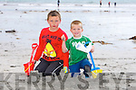 Enjoying the Childrens Beach Treasure Hunt  at  the Ballyheigue Summer Festival week on Monday were Jordan O'Rourke, Calum Hussey
