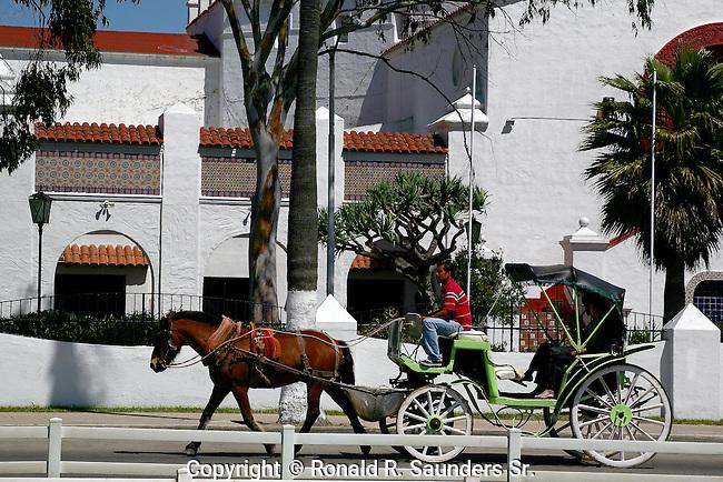 COUPLE RIDE in HORSE & CARRAIGE past RIVIERA COMPLEX
