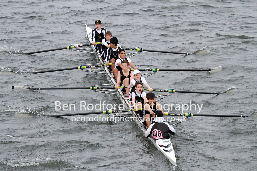 Crew: 206  St Pauls Sch BC  Event: J15 School 2nd eights<br /> <br /> Schools' Head of the River 2017<br /> <br /> To purchase this photo, or to see pricing information for Prints and Downloads, click the blue 'Add to Cart' button at the top-right of the page.