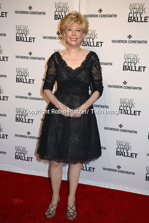 Lesley Stahl attends the New York City Ballet Spring 2014 Gala on May 8, 2014 at David Koch Theatre in Lincoln Center in New York City, NY, USA.