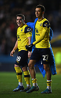 4th February 2020; Kassam Stadium, Oxford, Oxfordshire, England; English FA Cup Football; Oxford United versus Newcastle United; Nathan Holland and Liam Kelly of Oxford at the end of the match