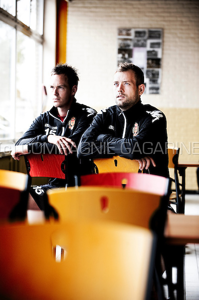 Danish football players Thomas Enevoldsen and Nicklas Pedersen (Belgium, 17/07/2012)