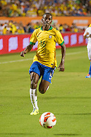 Miami, FL - Saturday, Nov 16, 2013: Brazil vs Honduras during an international friendly at Miami's Sun Life Stadium. Brazil midfielder Ramirez chases down a pass.