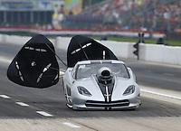 Apr 26, 2015; Baytown, TX, USA; NHRA pro mod driver Bob Rahaim during the Spring Nationals at Royal Purple Raceway. Mandatory Credit: Mark J. Rebilas-