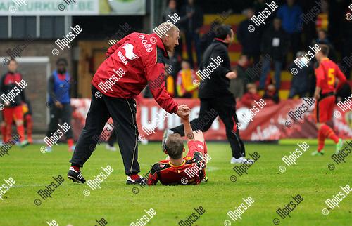 2013-05-29 / Voetbal / seizoen 2012-2013 / Georgië - België U19 / Teleurstelling bij België..Foto: Mpics.be