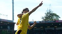 Burnley's Sam Vokes celebrates scoring his sides first goal with team-mate Stephen Ward<br /> <br /> Photographer Ian Cook/CameraSport<br /> <br /> The Premier League - Bournemouth v Burnley - Saturday 13th May 2017 - Vitality Stadium - Bournemouth<br /> <br /> World Copyright &copy; 2017 CameraSport. All rights reserved. 43 Linden Ave. Countesthorpe. Leicester. England. LE8 5PG - Tel: +44 (0) 116 277 4147 - admin@camerasport.com - www.camerasport.com