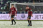 10.03.2019, HDI Arena, Hannover, GER, 1.FBL, Hannover 96 vs Bayer 04 Leverkusen<br /> <br /> DFL REGULATIONS PROHIBIT ANY USE OF PHOTOGRAPHS AS IMAGE SEQUENCES AND/OR QUASI-VIDEO.<br /> <br /> im Bild / picture shows<br /> Waldemar Anton (Hannover 96 #31), Marvin Bakalorz (Hannover 96 #06) Kapit&auml;n / mit Kapit&auml;nsbinde, <br /> <br /> Foto &copy; nordphoto / Ewert