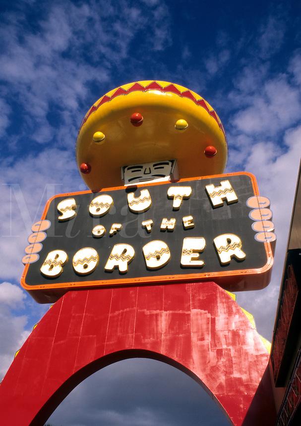 South of the Border resort stop on I-95 on border of South and North Carolina, USA