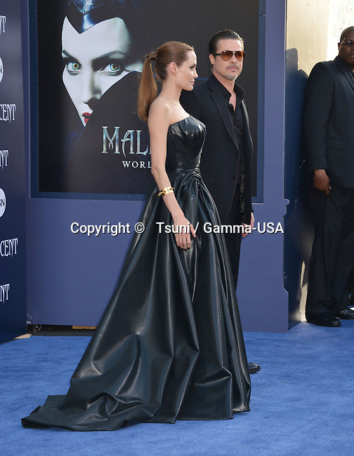 Angelina Jolie and Brad Pitt 168 at the Maleficent Premiere at the El Capitan Theatre in Los Angeles.