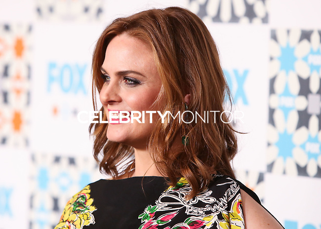 WEST HOLLYWOOD, CA, USA - JULY 20: Actress Emily Deschanel arrives at the FOX Summer 2014 TCA All-Star Party held at the Soho House on July 20, 2014 in West Hollywood, California, United States. (Photo by Xavier Collin/Celebrity Monitor)