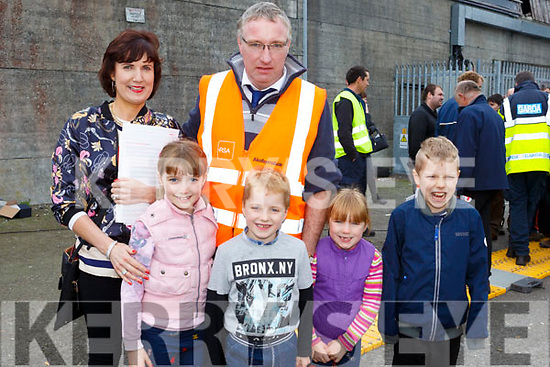 At the Farm Safety Event at Kingdom Mart on Thursday. were,Ailish Lyons,  Jimmy Lyons, Orla Lyons,Sinead Lyons,  Seamus Lyons