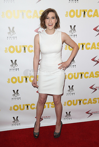 """WESTWOOD, CA - April 13: Eden Sher, At Premiere Of Swen Group's """"The Outcasts"""" At The Landmark Regent  In California on April 13, 2017. Credit: FS/MediaPunch"""