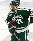 Andy Simpson (Dartmouth - 24) - The Harvard University Crimson tied the visiting Dartmouth College Big Green 3-3 in both team's first game of the season on Saturday, November 1, 2014, at Bright-Landry Hockey Center in Cambridge, Massachusetts.
