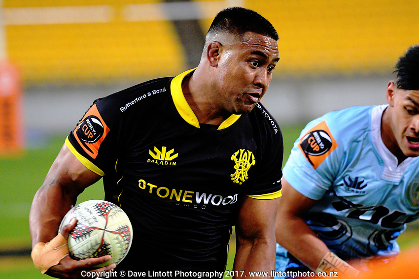 Julian Savea in action during the Mitre 10 Cup Championship semifinal match between Wellington Lions and Northland Taniwha at Westpac Stadium in Wellington, New Zealand on Friday, 20 October 2017. Photo: Dave Lintott / lintottphoto.co.nz