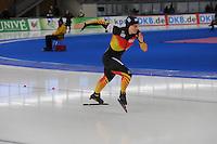 SCHAATSEN: BERLIJN: Sportforum, 07-12-2013, Essent ISU World Cup, 500m Ladies Division A, Jenny Wolf (GER), ©foto Martin de Jong