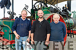 Enjoying the Threshing Festival and Vintage Rally at Blennerville Windmill on Sunday were l-r Arthur Flynn, Tralee, James Conway, Tralee and Sean Dean, Camp