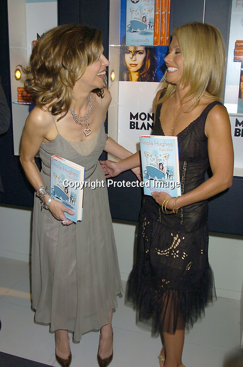 "Finola Hughes and Kelly Ripa ..at the Book Party for Finola Hughes' Book ""Soapsuds"" ..at The Montblanc Global Flagship Store on June 14, 2005. ..Photo by Robin Platzer, Twin Images"
