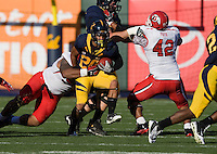 October 22th, 2011:  Isi Sofele of California tries to gain more yardage during a game against Utah at AT&T Park in San Francisco, Ca  -  California defeated Utah 34 - 10