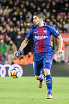 Luis Suarez of FC Barcelona runs with the ball during the La Liga 2017-18 match between FC Barcelona and Deportivo La Coruna at Camp Nou Stadium on 17 December 2017 in Barcelona, Spain. Photo by Vicens Gimenez / Power Sport Images