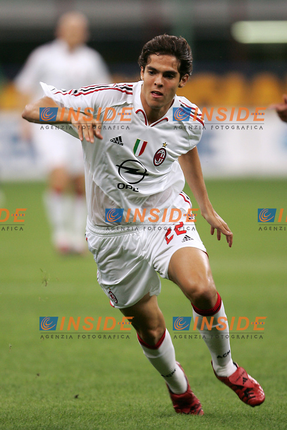 Milano 13/8/2004 Trofeo Seat. Milan - Sampdoria 2-2. Sampdoria won after penalties - Sampdoria vince ai rigori.<br /> Ricardo Kaka Milan<br /> Foto Andrea Staccioli Insidefoto