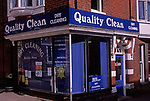 AE2BY8 Dry cleaners shop Woodbridge Suffolk England