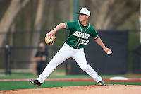 Charlotte 49ers starting pitcher Matt Horkey (22) in action against the Wake Forest Demon Deacons at Hayes Stadium on March 16, 2016 in Charlotte, North Carolina.  The 49ers defeated the Demon Deacons 7-6.  (Brian Westerholt/Four Seam Images)