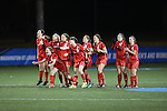 SALEM, VA - DECEMBER 3:The Bears cheer on their teammates during penalty kicks during theDivision III Women's Soccer Championship held at Kerr Stadium on December 3, 2016 in Salem, Virginia. Washington St Louis defeated Messiah 5-4 in PKs for the national title. (Photo by Kelsey Grant/NCAA Photos)