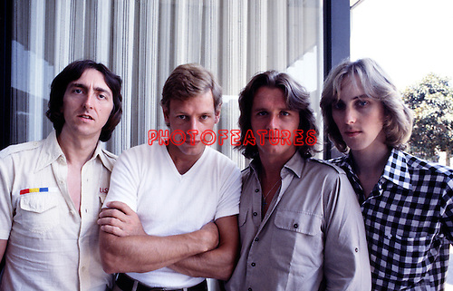 UK 1978 Allan Holdsworth Bill Bruford John Wetton and Eddie Jobson<br /> &copy; Chris Walter