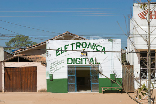 Pará State, Brazil. Ourilândia do Norte. Electronic repairs shop.