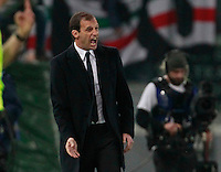 Massimiliano Allegri during the Italian Serie A soccer match between   AS Roma and Juventus FC       at Olympic Stadium      in Rome ,March 02 , 2015