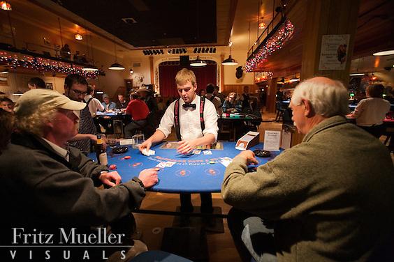 Gambling at Diamond Tooth Gertie's Dancehall and Casino in Dawson City, Yukon