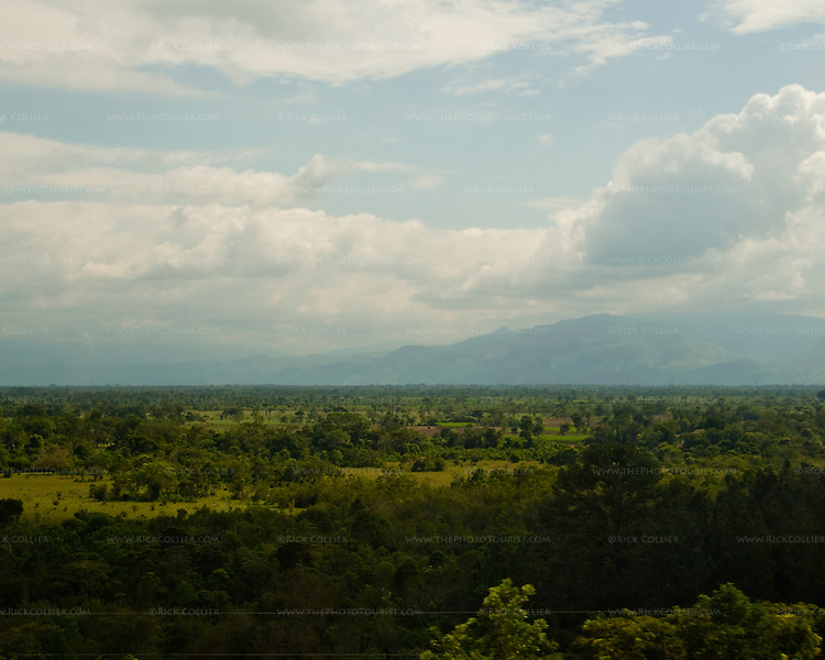 View of the central, fertile Rio Motagua (river) valley in Guatemala.